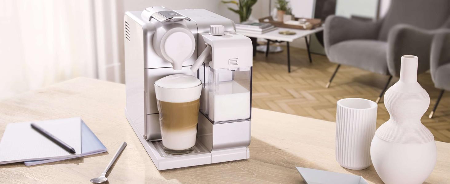 DeLonghi Nespresso Lattissima Touch 1 - De'Longhi Nespresso Lattissima Touch | EN 560.B Kaffekapselmaschine mit Milchsystem | Flow Stop Funktion: Kaffee- und Milchmenge individuell einstellbar | 19 bar Pumpendruck | Schwarz Grau