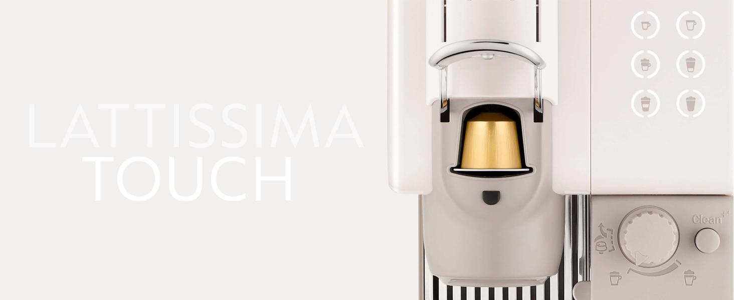 DeLonghi Nespresso Lattissima Touch 2 - De'Longhi Nespresso Lattissima Touch | EN 560.B Kaffekapselmaschine mit Milchsystem | Flow Stop Funktion: Kaffee- und Milchmenge individuell einstellbar | 19 bar Pumpendruck | Schwarz Grau