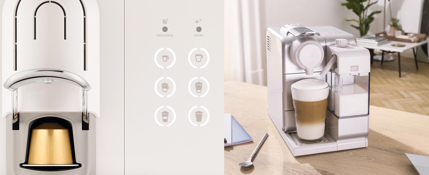 DeLonghi Nespresso Lattissima Touch 3 - De'Longhi Nespresso Lattissima Touch | EN 560.B Kaffekapselmaschine mit Milchsystem | Flow Stop Funktion: Kaffee- und Milchmenge individuell einstellbar | 19 bar Pumpendruck | Schwarz Grau