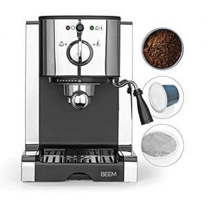 beem espresso perfect espresso siebtrgermaschine 20 bar basic 1 300x300 - BEEM ESPRESSO-PERFECT | Espresso-Siebträgermaschine - 20 bar | BASIC SELECTION | Silber | Integrierte Milchschaumdüse