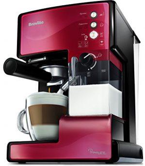breville vcf046x primalatte 3 in 1 kaffeemaschine espressomaschine 1 1 299x344 - Breville VCF046X PrimaLatte 3 in 1 Kaffeemaschine | Espressomaschine | Kaffeepadmaschine | 15 Bar | für verschiedene Milchtypen geeignet, Rot/Metallic