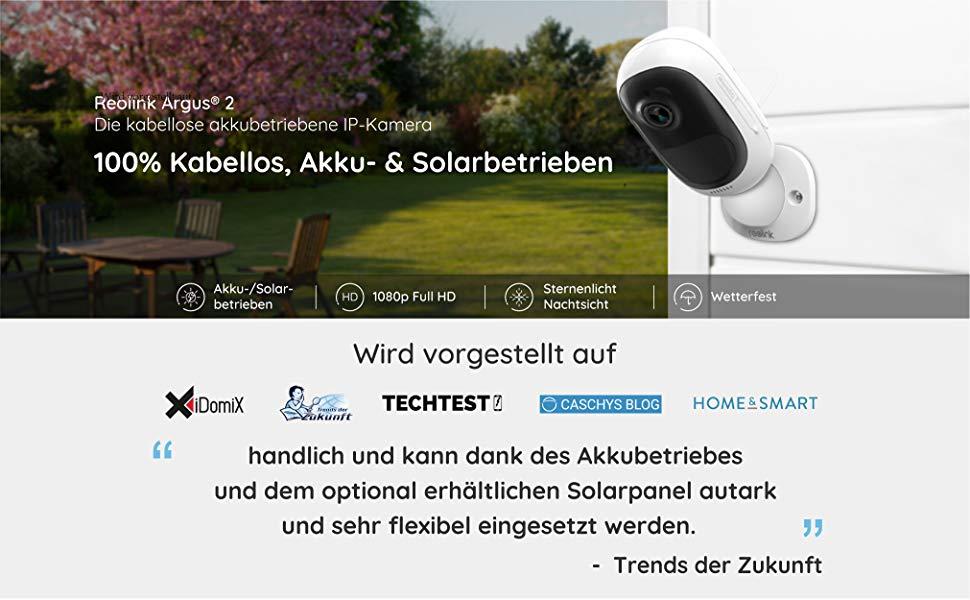 c5HRwdbTHWs. UX970 TTW   - Reolink Argus 2 Überwachungskamera Aussen WLAN mit Akku, kabellose WiFi IP Kamera 1080p HD mit PIR-Bewegungsmelder, SD-Kartenslot, 2-Wege-Audio und Sternenlicht-Nachtsicht.