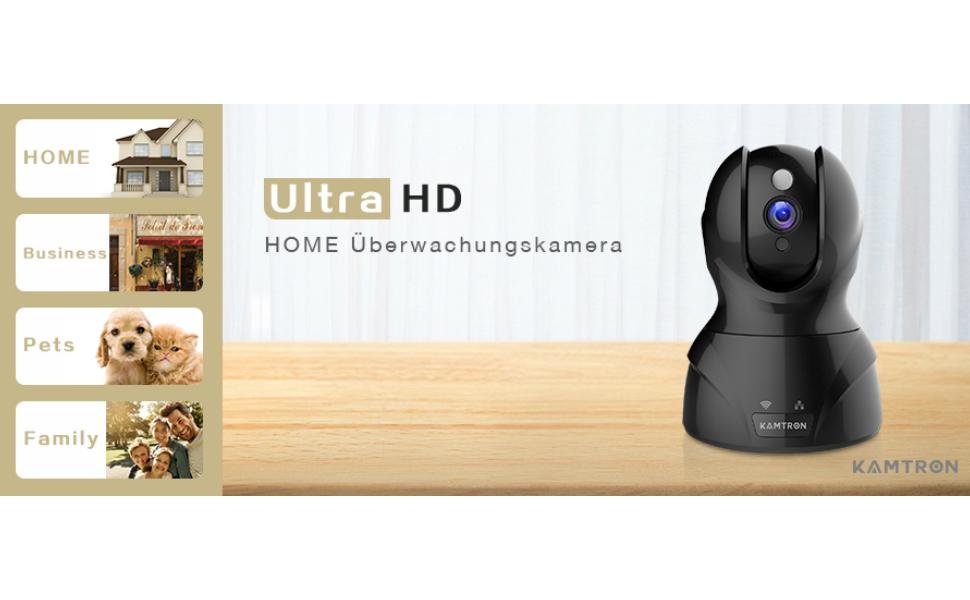 e814c824 de59 4c83 841f 217a3fcd07a7. CR00970600 PT0 SX970   - KAMTRONWLAN IP Kamera HD WiFi Überwachungskamera,mit 350°/100°Schwenkbar,Home und Baby Monitor mit Bewegungserkennung, Zwei-Wege-Audio, Nachtsicht, unterstützt Fernalarm und Mobile App Kontrolle