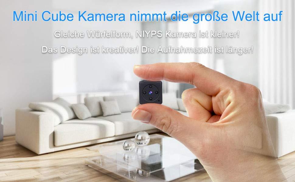 f0fa76bf f825 4d65 8a76 5138320600aa. CR00970600 PT0 SX970   - Mini Kamera NIYPS Überwachung Full HD 1080P Tragbare Kleine Überwachungskamera, Mikro Nanny Cam mit Bewegungserkennung und Infrarot Nachtsicht, Compact Sicherheit Kamera für Innen und Aussen