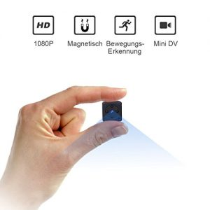 mini kameraniyps full hd 1080p tragbare kleine berwachungskamera mikro 300x300 - Mini Kamera NIYPS Überwachung Full HD 1080P Tragbare Kleine Überwachungskamera, Mikro Nanny Cam mit Bewegungserkennung und Infrarot Nachtsicht, Compact Sicherheit Kamera für Innen und Aussen