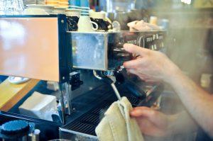 Espressomaschine-Reinigung